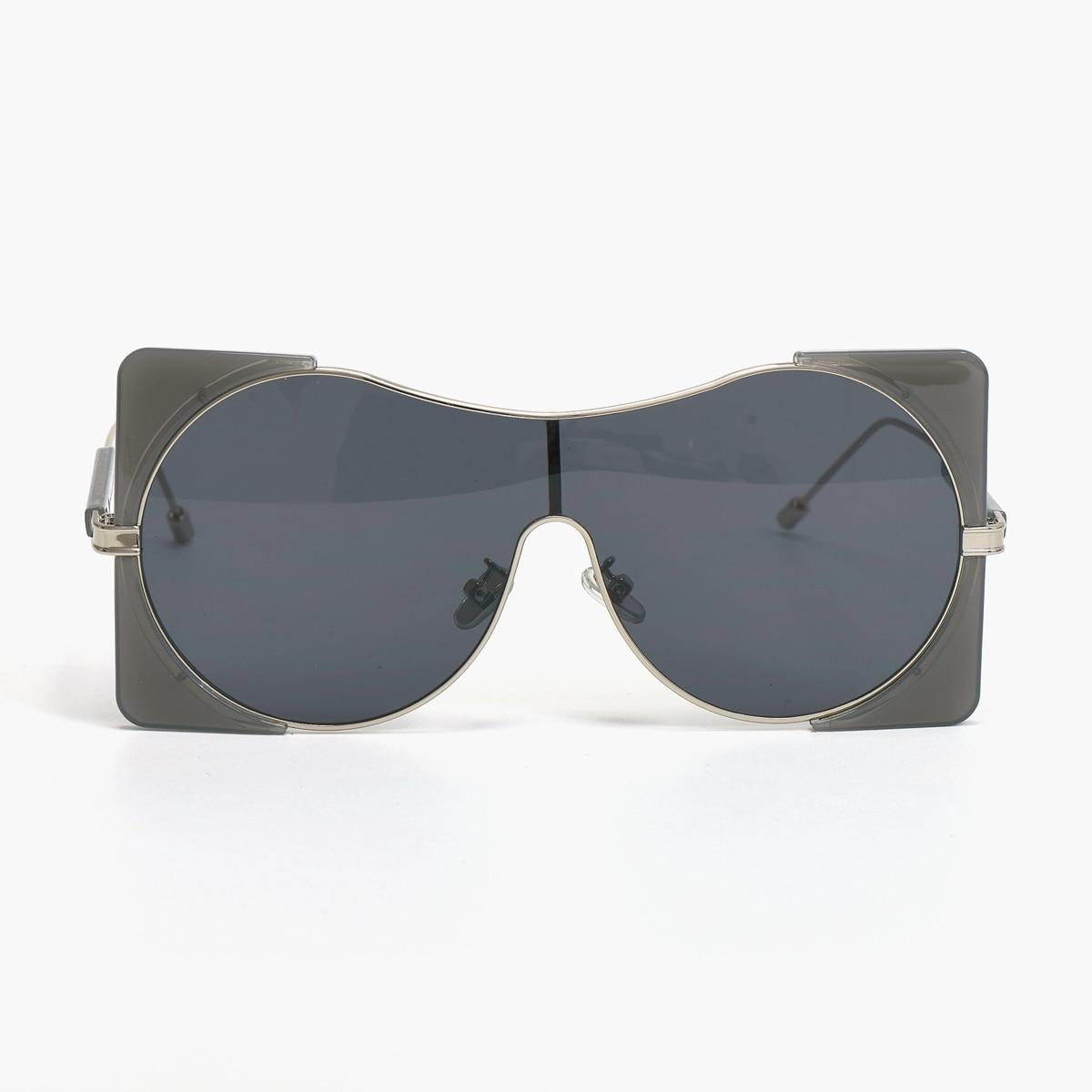 47040 Oversized Vierkante Zonnebril Vrouwen Mode UV400 Vintage Bril
