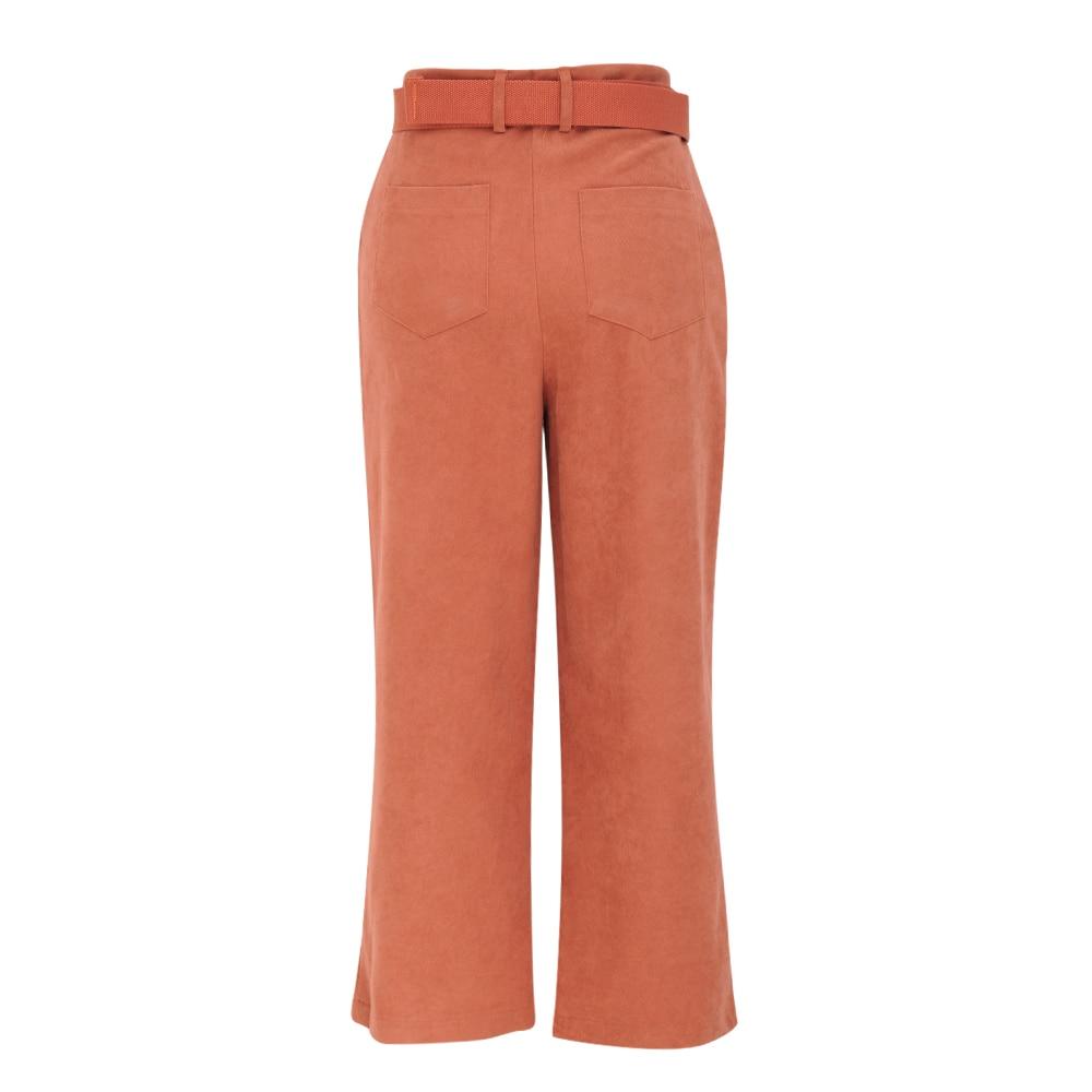 Vintage Broek Vrouw Hoge Taille 2020 Herfst Enkellange Broek Dames Solid Streetwear Wijde Pijpen Broek Losse Harembroek Voor vrouwen