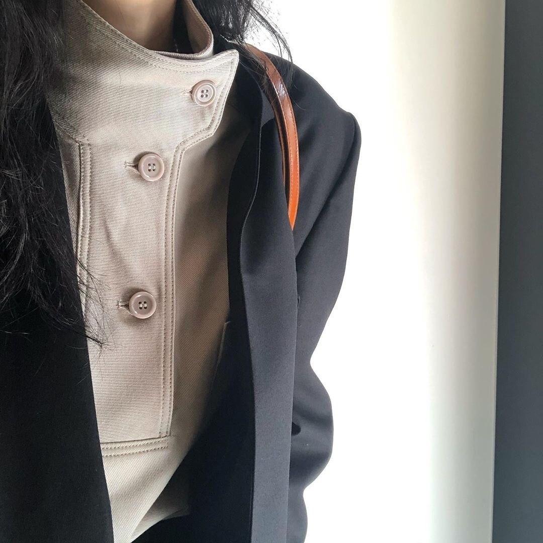 Syiwidii Shirt En Blouse Vintage Fall 2020 Vrouwen Tops Koreaanse Fashion Kleding Solid Skew Kraag Lantaarn Mouw Zwart Kaki Nieuwe