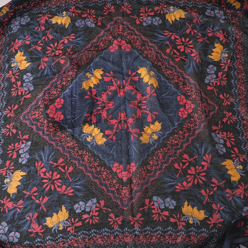 2020 Vrouwen Mode Kleine Polka Bloemen Kwastje Viscose Shawl Sjaal Print Voile Wrap Hoofdband Bufandas Moslim Hijab Sjaal 130*130Cm
