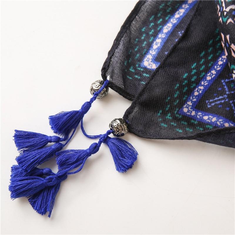 Kyqiao Merk Designer Sjaal 2020 Vrouwen Herfst Lente Mexico Stijl Hippie Vintage Etnische Kwasten Afdrukken Sjaals Uitlaat Cape