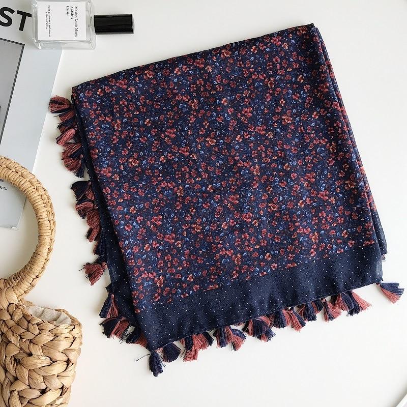 2020 Modieuze Zijden Sjaals Allerlei Bloem Gedrukt Grote Vierkante Sjaals Katoen Sjaals Strand Luxe Sjaal Katoen
