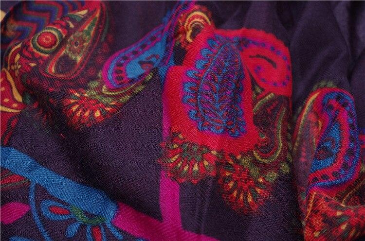 2020 Nationale Stijl Herfst En Winter Lady Print Zijden Sjaal Vrouwen Katoen En Linnen Strand Shawl Kwasten Seaside Deken sjaal